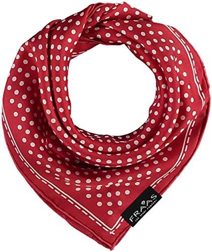 FRAAS Bandana Tuch gepunktet - elegantes Nickituch für Damen - schickes Seidentuch mit Polka Dots - Haarband gepunktet - Dreieckstuch Rot -