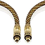 IBRA 2M Master Gold Digital Optical Cable - Suitable For PS3, Sky, Sky Hd, LCD, LED, Plasma, Blu-Ray, Home Cinema Systems, AV Amps