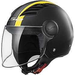 LS2Casco Moto of562Airflow Metropolis, Matt black/yellow Long, M