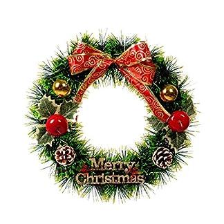 Mirabellini-Frohe-Weihnachten-Krnze-Girlanden-mit-Bogen-Weihnachtsbaum-Wand-Tr-Hngende-Verzierung-mit-roten-Bowknot