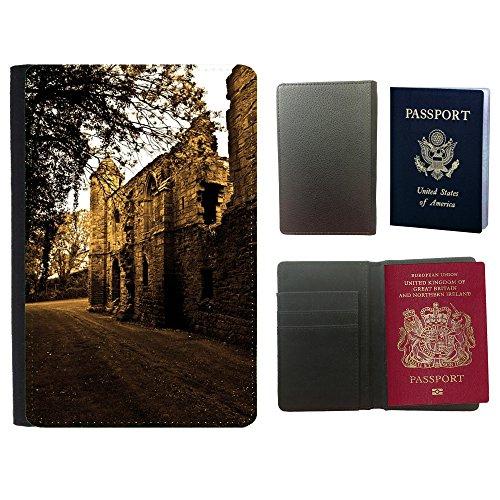 PU Pass Passetui Halter Hülle Schutz // M00155190 Ruinen Wände Architektur Hintergrund // Universal passport leather cover (Wand Architektur)