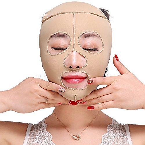 PvxgIo Gesichtsmaske zum Abnehmen des Gesichts mit schlanker Form, reduziert doppelte Kinn-Bandage, Schminkmaske, 66 cm