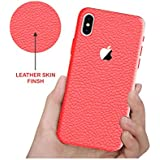 "Leather Case For Apple IPhone X, Case Creation (TM) 100% Transparent Flexible Soft Thin Border Corner Protection With TPU Slim Matte Back Case Back Cover For Apple IPhone X / IPhone 10 / IphoneX / IPhone X (2017) 5.8"" Inch -Color Pure Wine Red"