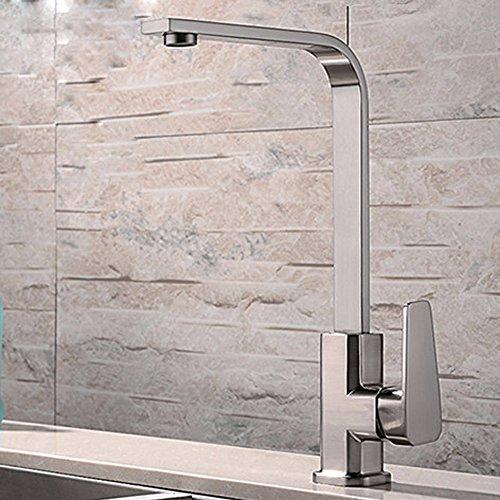 CNBBGJ Zeichnung Windel bibcock von kaltem Wasser mischen Square Küche Wasserhahn sieben Wörter tippen
