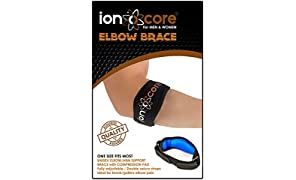 ionocore Elbow Support Brace - Golf & Tennis Elbow Arm Strap - Lightweight and Adjustable with EVA Compression Pad - One-Size (1)