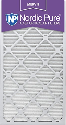 Nordic Pure 18 x 30 x 1 m8-6 MERV 8 Bundfaltenhose AC Ofen Air Filter, 18 x 30 x 1, Box of 6