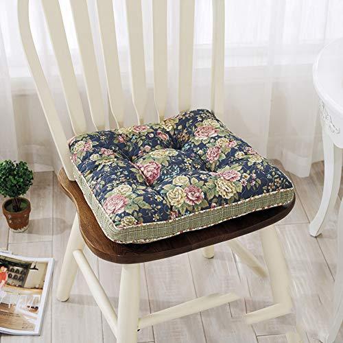 F-LFJBK Cotton Square Stuhl Sitzkissen,Thicken Anti-Slip Soft Tatami Futon Sitz Auflage Kissen,universal Flexible Patio Office Dining Chair Gesäß Matte -j 40x40x5cm(16x16x2inch)