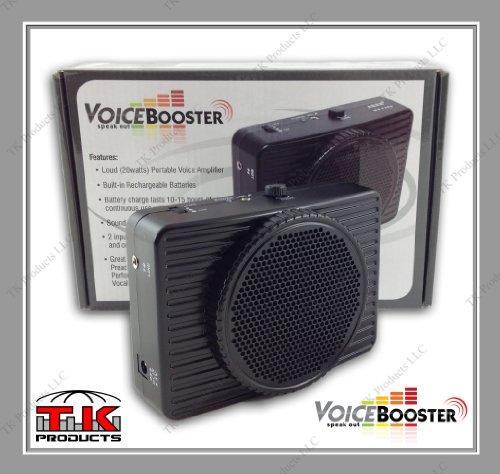 TK Products VoiceBooster Sprachverstärker, 20 W, Schwarz MR2300 (Aker) von TK Products, tragbar, für Lehrer, Trainer, Reiseführer, Präsentationen, Kostüme - Stecker Ausgang Kostüm