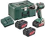 Metabo 18-Volt-Akku-Bohrschrauber BS 18 LT BL Set + 3 Li-Power Akkupacks (18 V/4,0 Ah) + MetaLoc Koffer