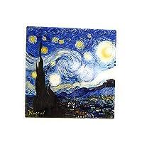 Ambiance Sud - Ceramic Trivet, Cork Backing, Starry Night Van Gogh Design, 20 x 20 cm