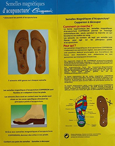 Original Wellness Akupressur Magnetsohle Magnetische Einlegesohlen für Damen und Herren Energetix 4you 3009 Stimulations Noppen + 8 Magnete Feet Universalgröße