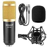 Neewer® NW-800 Microphone à Condensateur Micro Enregistrement Studio Radio Kit Inclus(1) NW-800 Microphone à Condensateur Noir + (1) Support Antichocs de Microphone + (1) Bouchon Anti-Vent en Mousse + (1) Câble d\'Alimentation