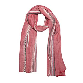 FabSeasons Large Size Striped Cotton Rayon Scarf, Scarves, Stole & Shawl for Men & Women for Summer and Winter