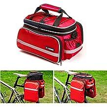 Vitalite - Bolsa de bicicleta de transporte para el portaequipajes, multifuncional y con cubierta impermeable