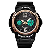Carriea Kinder Digital Uhren für Jungen - Wasserdichte Sport Armbanduhr mit Wecker/Timer, schwarz Kinder Outdoor Elektronische Sport Digital Uhren für Teenages Jungen Kinderuhren