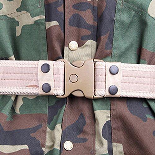 QHGstore Hommes / Ceintures Armée Femmes Sports Camouflage Canvas Pour tactique militaire Ceinture en alliage Buckle numérique beige & A numérique beige & AB