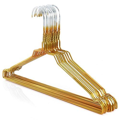 hangerworld-lot-de-50-cintres-solides-en-metal-a-revetement-pour-chemise-robe-dore