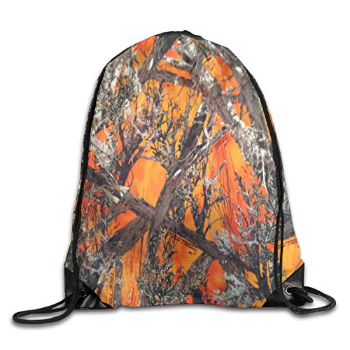 7c8c8838df11a GONIESA Fashion Unisex Gym Bag Drawstring Backpack Gym Bag Travel Backpack True  Timber Camo Small Drawstring