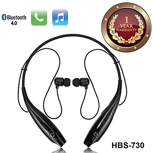 Elevea compatible HBS-730 Neckband Bluetooth Headphones Earphones Wireless Sport Stereo Extra Bass Headsets Handsfree with Microphone for Android, Apple Devices, Xiaomi Mi, iPhone, Phillips, JBL, Vivo, Bose, Boat Rockerz, One Plus, Motorola, Mivi, QCY, Samsung, LG Tone mobile devices-Assorted colour (1 year warranty)  available at amazon for Rs.549