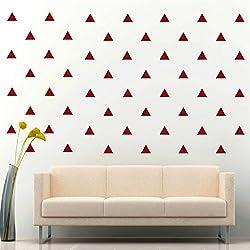 JCM Custom Triangle Removable Vinyl Decal Sticker Wall Décor, Dark Red 4