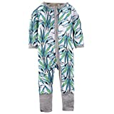 BIG ELEPHANT Baby Boys'1 Piece Long Sleeve Sleepwear Bamboo Print Zipper Romper K98