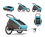 Croozer Kid Plus for 2 sky blue/brown