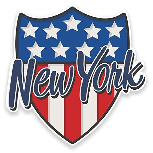 Preisvergleich Produktbild 2x New York USA vinyl Aufkleber Aufkleber Laptop Reise Gepäck Auto Ipad Schild Fun # 9112 - 10cm/100mm Wide