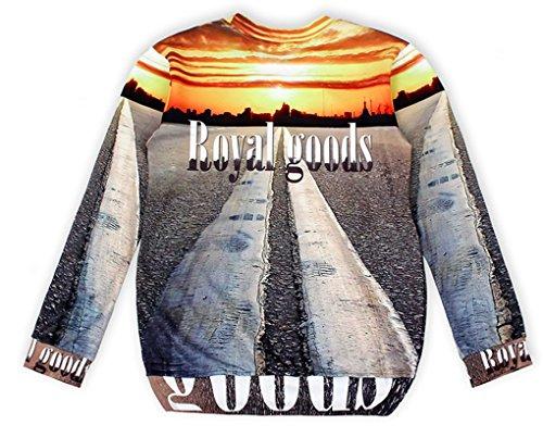 Thenice - Sweat-shirt spécial grossesse - Imprimé Animal - Col Rond - Femme Taille Unique Sunrise street