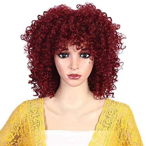 Ciel Lady Kostüm - Liusdh women wig Hochtemperatur-Seide atmungsaktiv Rose net lange Haare Explosion Kopf Perücke(B,one size)