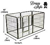 Resistente box da gioco per cucciolo di Doggy Style, con 6 pannelli, 4 misure