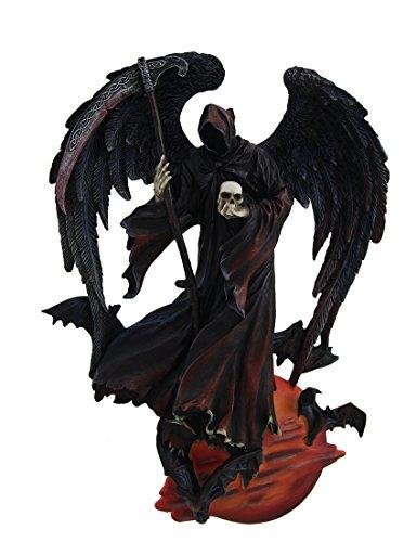 Zeckos Reaper Der Nacht sehr detailliert Angel of Death Wand Skulptur