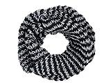 VIPER Tube en boucle Foulard LOOP écharpe autour du cou tricoté hiver, écharpe choisir:SCH-267b noir gris clair