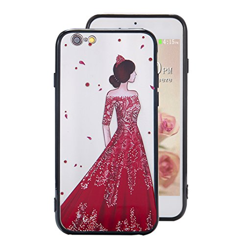 Coque iPhone 6 Case, Silicone Housse iPhone 6S apple Case Rosa Schleife® Etui iPhone 6 TPU Gel de Silicone Ultra mince Cas Transparente Housse de Protection Back Cover Protective Shell Mirror Clair Ca 3-Style