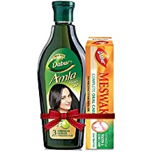 Dabur Amla Hair Oil, 450ml with Free Meswak, 50g