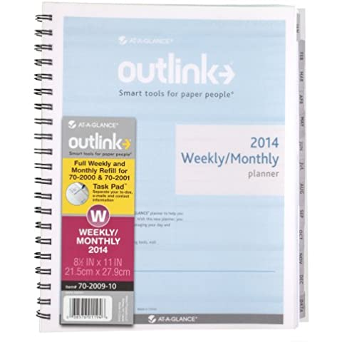 At-a-Glance ® outlink® outlink Planner settimanale/mensile Data Refill, 8–1/2x 11