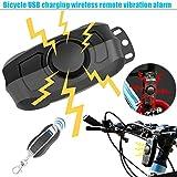 Crewell Diebstahlsicherung Professioneller Fahrrad Alarm, schaltet Fernbedienung Vibration Alarm Wireless-Sicherheit 110dB