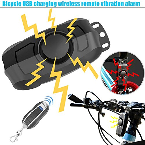 Dxlta bicicletta allarme serrature di sicurezza wireless, professionale antifurto per bicicletta serratura con telecomando allarme 110dB