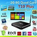T10 Plus Tronic Android 4.4 Quad coreTv Box Kodi 16.0 Fully Pre-Loaded Amlogic S812 2G/8G 4K Google Tv Box better than TONBUX models and JBONEST