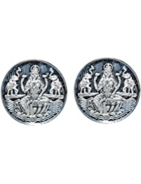 Kataria Jewellers Lakshmi Combo of 2 Silver Coin 3 Grams In 999 Purity Hallmarked Silver