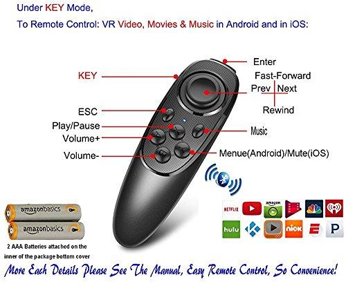 Universal Wireless Gamepad VR Controller schwarz VR-Remote with Battery