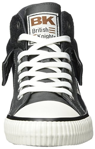 British Knights Roco, Baskets Hautes Homme, Black Black Schwarz (Black/Dk Grey Cognac)