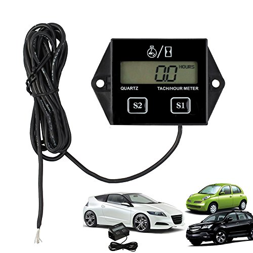 Digital Motorrad LCD Racing Zündkerze Motor Tachometer