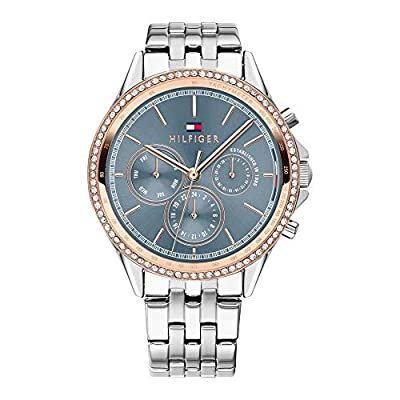 Tommy Hilfiger Reloj Multiesfera para Mujer de Cuarzo con Correa en Acero Inoxidable 1781976