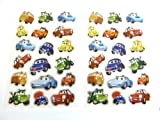 Fun Vehicle, Car, Stickers for Kids, Children. Labels for Party Bags, Scrap Books, Decoration. Fun Stickers