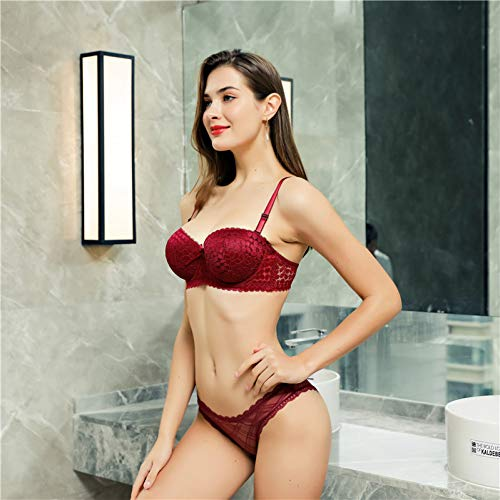 DKNBI BH Push Up Lady B Cup Unterwäsche Sexy Lace Frauen Floral Bralette - 6