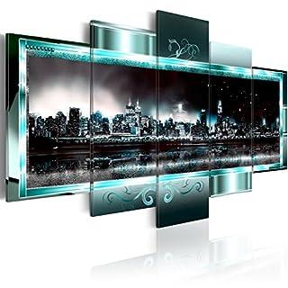 murando - Bilder 200x100 cm Vlies Leinwandbild 5 TLG Kunstdruck modern Wandbilder XXL Wanddekoration Design Wand Bild - New York Abstrakt 020111-29