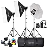 Neewer® 540W(180W x 3) Professionale Fotografia Studio Flash Lighting Kit di Strobe Luce per i Ritratti, Studio e Video Riprese ( EG-180B) - Neewer - amazon.it