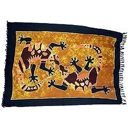 Guru-Shop, Pareo, Tapiz, Falda del Abrigo, Vestido Pareo 11, Multicolor, Viscosa, Tamaño:One Size, 160x100 cm, Pareos, Toallas de Playa