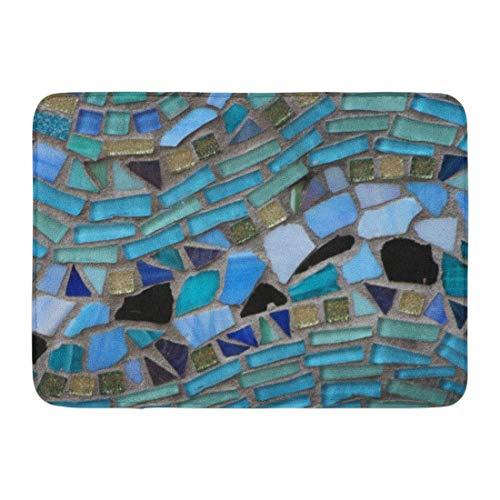 rün türkis blau Meer Glas grau Licht Badezimmer Dekor Teppich ()