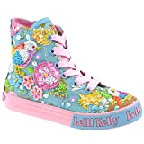 Lelli Kelly LK5092 (BO02) Turquoise Fantasy Birdie Canvas Baseball Boots-33 (UK 1)